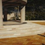 img-Curved Sandstone Stairs And Risers