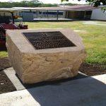 img-Livingstone College Memorial Sandstone Block With Desk