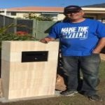 img-Sandstone Block Letterbox By Install By Customer