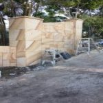 img-Sandstone Column Slabs With French Pattern