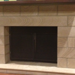 img-Sandstone Fireplace Cladding With Bevels