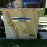 img-Sandstone Letterbox Face To Block Or Brickwork