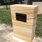 img-Sandstone Letterbox - New - With Junk Mail And House Number Available