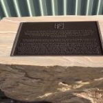 img-Sandstone Memorial With Desk And Brass Plaque