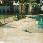 img-Sandstone Pool Coping Templated With Crazy Pave