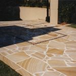 img-Sandstone Slab Crazy Pave Brown And White Selected