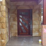 img-Sandstone Smooth Cladding With Rockface Quoins To Corner