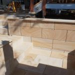 img-Sandstone Wall Cladding With Sandstone Capping
