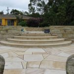 img-Sawn Sandstone Crazy Pave With Sandstone Stairs